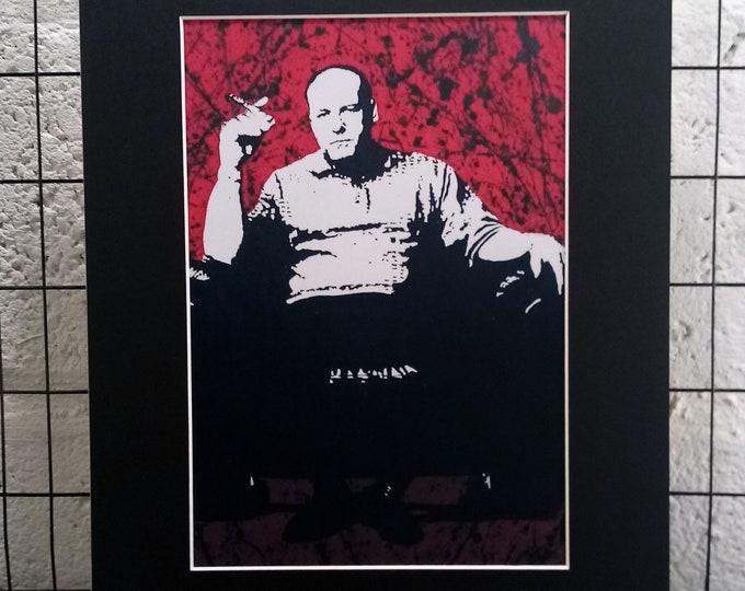 Sopranos - Tony Soprano | Signed A4 Print | Black Cardboard Mount