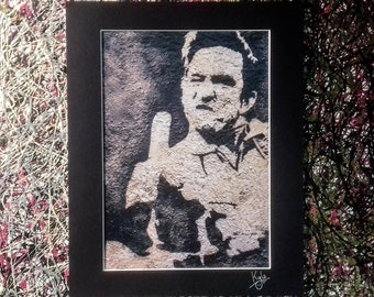 Begbie - Trainspotting | Signed Art Canvas Print with Black Cardboard Mount