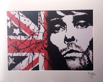 Ian Brown- The Stone Roses | Signed A3 Art Canvas Print