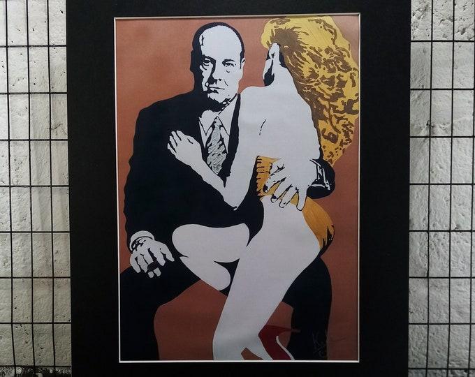 Sopranos - Tony Soprano | Signed A3 Print | Black Cardboard Mount