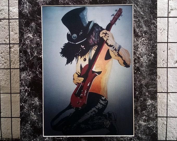 Slash - Signed & Mounted Canvas Print