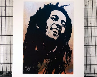 Bob Marley | Signed A3 Art Canvas Print