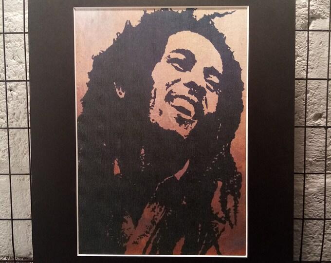 Bob Marley   Signed A4 Print   Black Cardboard Mount