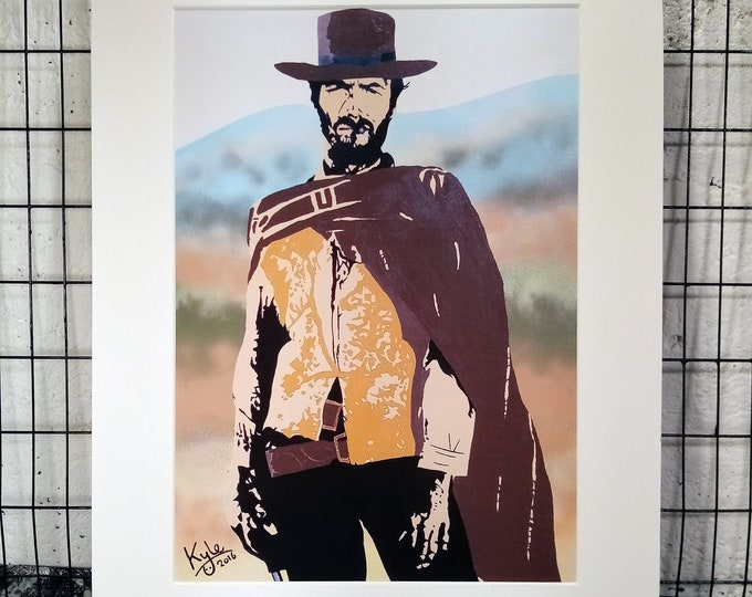 Clint Eastwood | Signed A3 Print | White Cardboard Mount