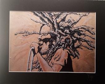 Bob Marley | Signed A3 Art Canvas Print