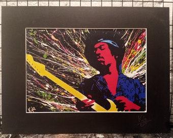 Jimi Hendrix | Signed & Mounted A4 Canvas Print