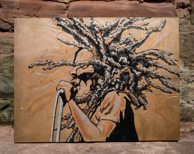 "Bob Marley | Original acrylic on canvas painting by Kyle Maclennan/Headon Art | 40"" x 30"" | Signed, includes COA"