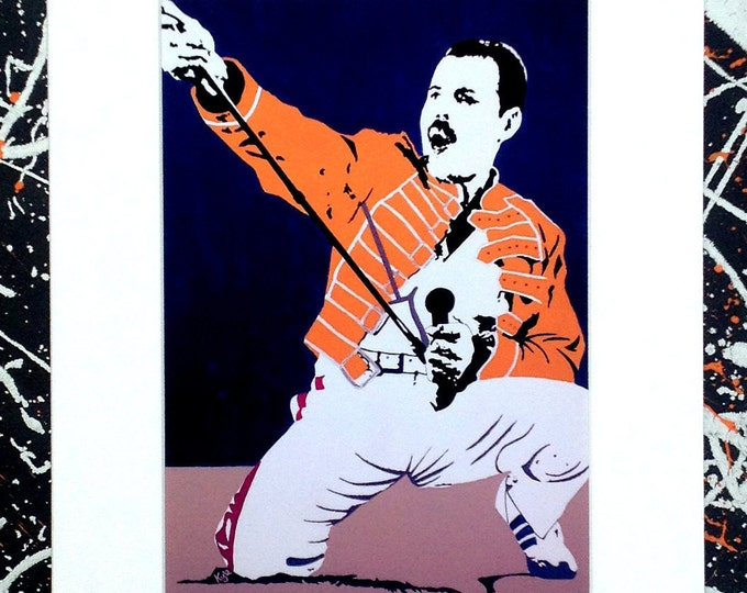 Freddie Mercury: Queen - Signed & mounted canvas print