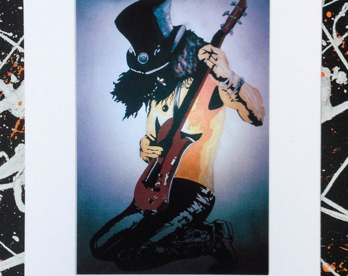 Slash: Guns N' Roses - Signed & mounted canvas print