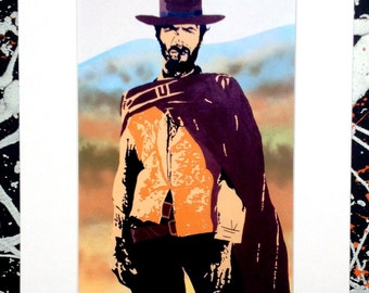 Clint Eastwood - Signed & mounted canvas print