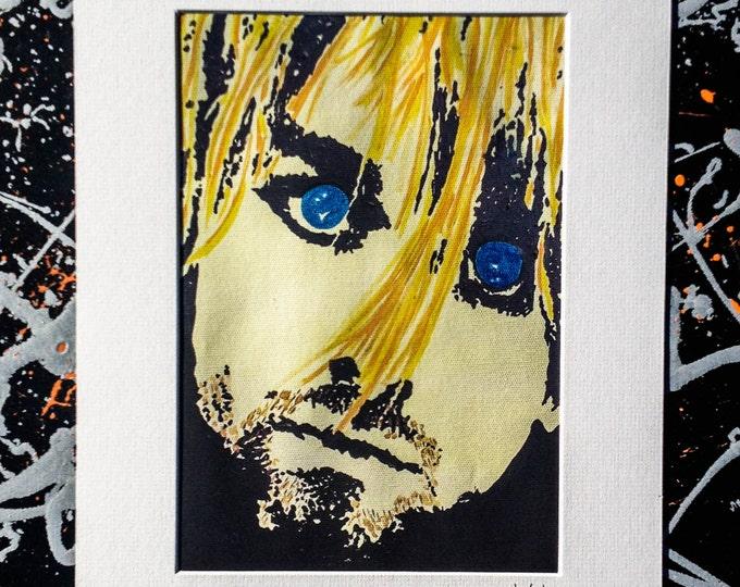 Kurt Cobain - Signed & mounted canvas print