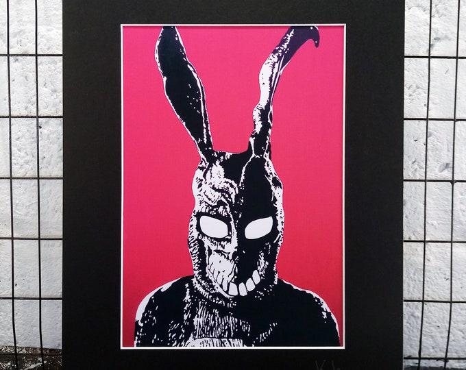 Donnie Darko - Frank | Signed A4 Art Canvas Print | Black Mount