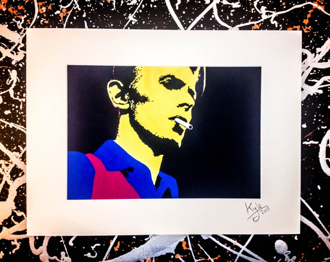 David Bowie - Signed & mounted canvas print