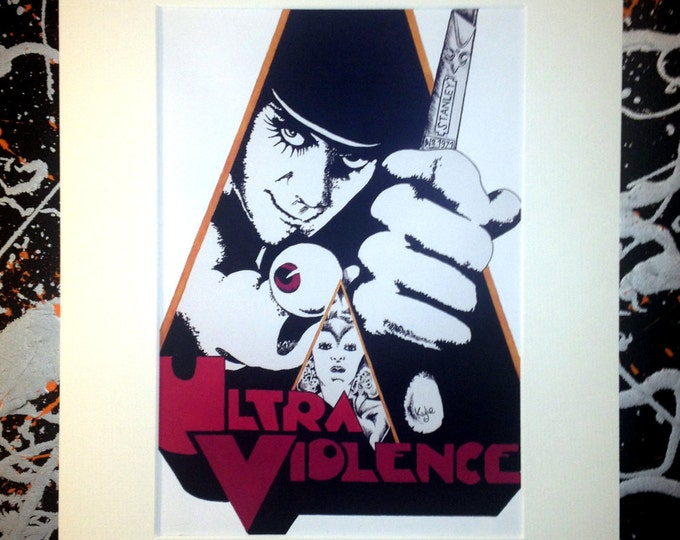 A Clockwork Orange - Signed & mounted canvas print