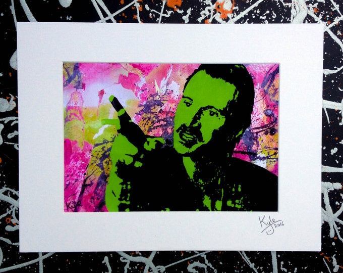 Trainspotting: Begbie - Signed & mounted canvas print