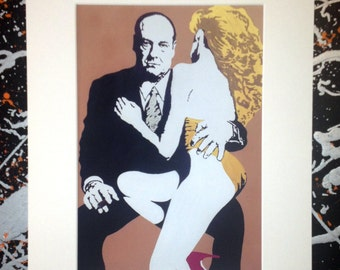 Tony Soprano - The Sopranos, signed pop art canvas print with cardboard mount.  From an original painting by Kyle Maclennan/Headon Art