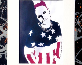 Keith Flint: The Prodigy - Signed & mounted canvas print