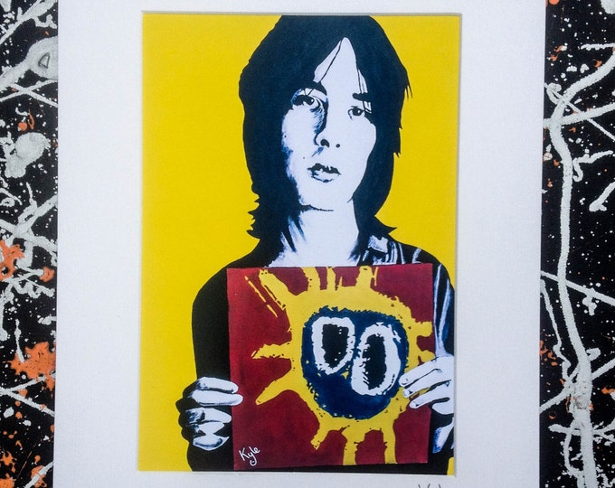 Primal Scream- Signed & mounted canvas print