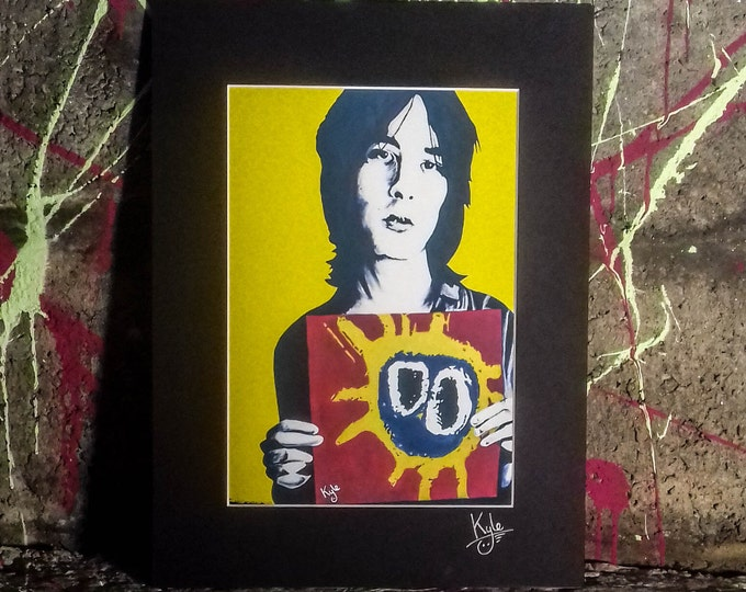 Bobby Gillespie - Primal Scream   Screamadelica - Signed & Mounted Canvas Print