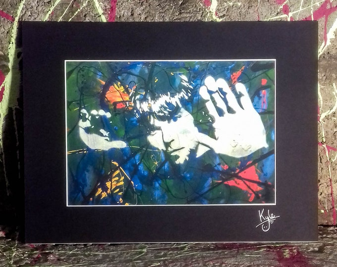 Ian Brown - The Stone Roses - Signed & mounted canvas print