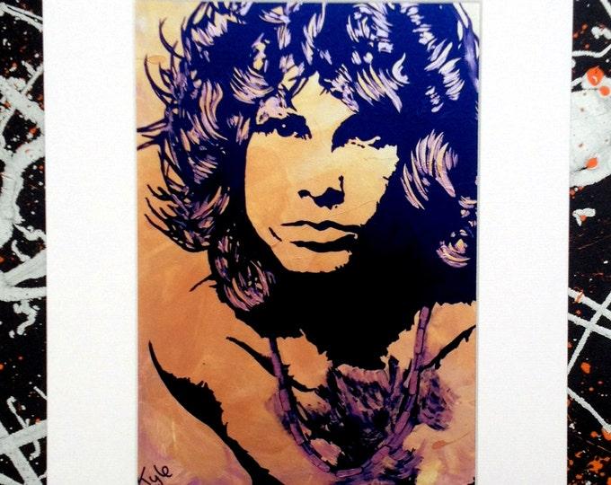 Jim Morrison - Signed & mounted canvas print
