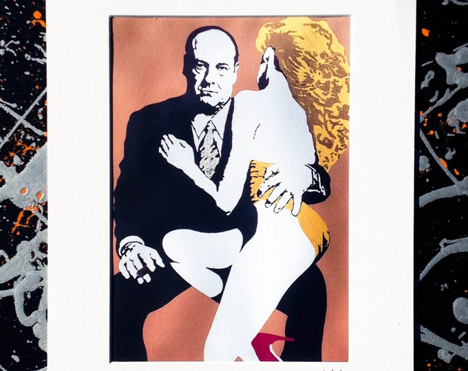 Tony soprano - Signed & mounted canvas print