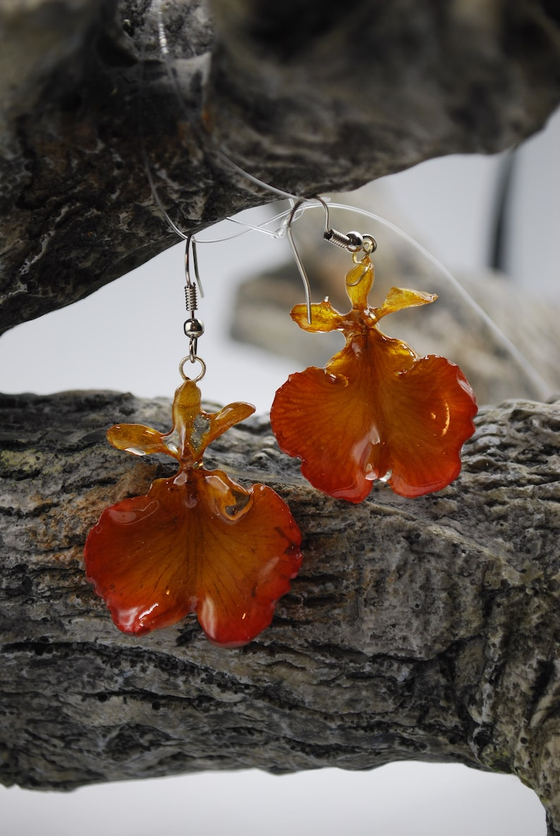 Oncidium Orchide Jewelry Earring Short  Orchid image 0