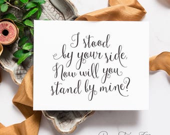 Will You Be My Maid of Honor - Bridesmaid Card Set - Cute Bridesmaid Box Ideas, Stood By Your Side, Best Friend Card | Darby, By Your Side
