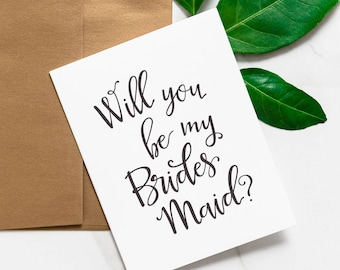 Will You Be My Bridesmaid Card Set - Be My Maid Of Honor - Bridesmaid Proposal Idea - Bridal Party Card Set, MOH | Vienna, Stacked Party