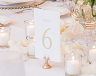 """Wedding Table Numbers - Table Number Cards - Wedding Decor - Table Numbers For Wedding  - 5x7"""" or 4x6"""" Match Your Wedding 