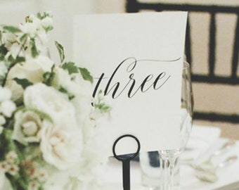 d48cd77dc Wedding Table Numbers - Table Number Cards - Wedding Decor - Table Numbers  For Wedding - 5x7