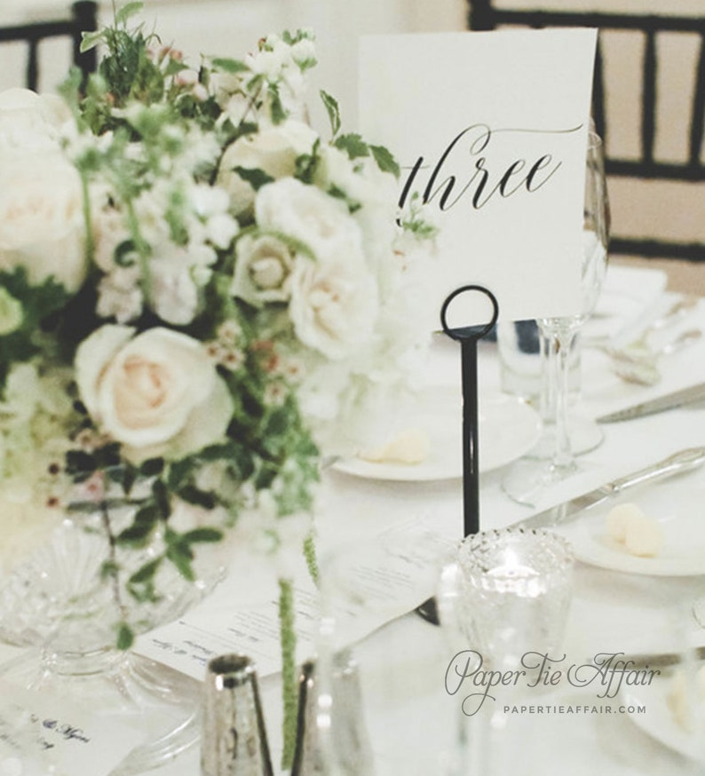 Wedding Table Numbers  Table Number Cards  Wedding Decor  image 0