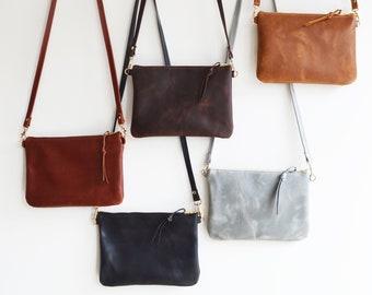 Leather Crossbody Bag, Small Crossbody Bag, Crossbody Purse, Crossbody Bag, Small Leather Purse, Leather Gift for Her, Wedding Anniversary