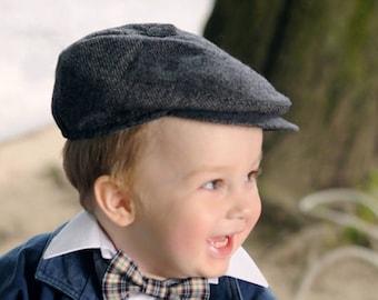 98c781fb1 Boys newsboy hat gray Toddler newsboy cap Grey newsboy hat Baby boy newsboy  hat Infant hat Page boy hat Grey tweed hat for baby Newsboy cap
