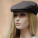 Womens newsboy hat Brown tweed hat Men newsboy cap Wool hat Autumn hat Brown hat Flat cap Driving hat Cabbie hat Flat hat Scally cap Ivy cap