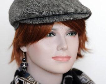77bdce85 Grey tweed newsboy cap Womens newsboy hat Mens wool hat Driver cap Peaky  Blinders hat gray Cabbie hat Flat cap Derby hat for men Grey hat