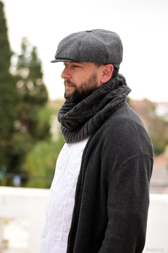 Grey newsboy cap Mens newsboy hat Tommy Shelby hat Peaky | Etsy