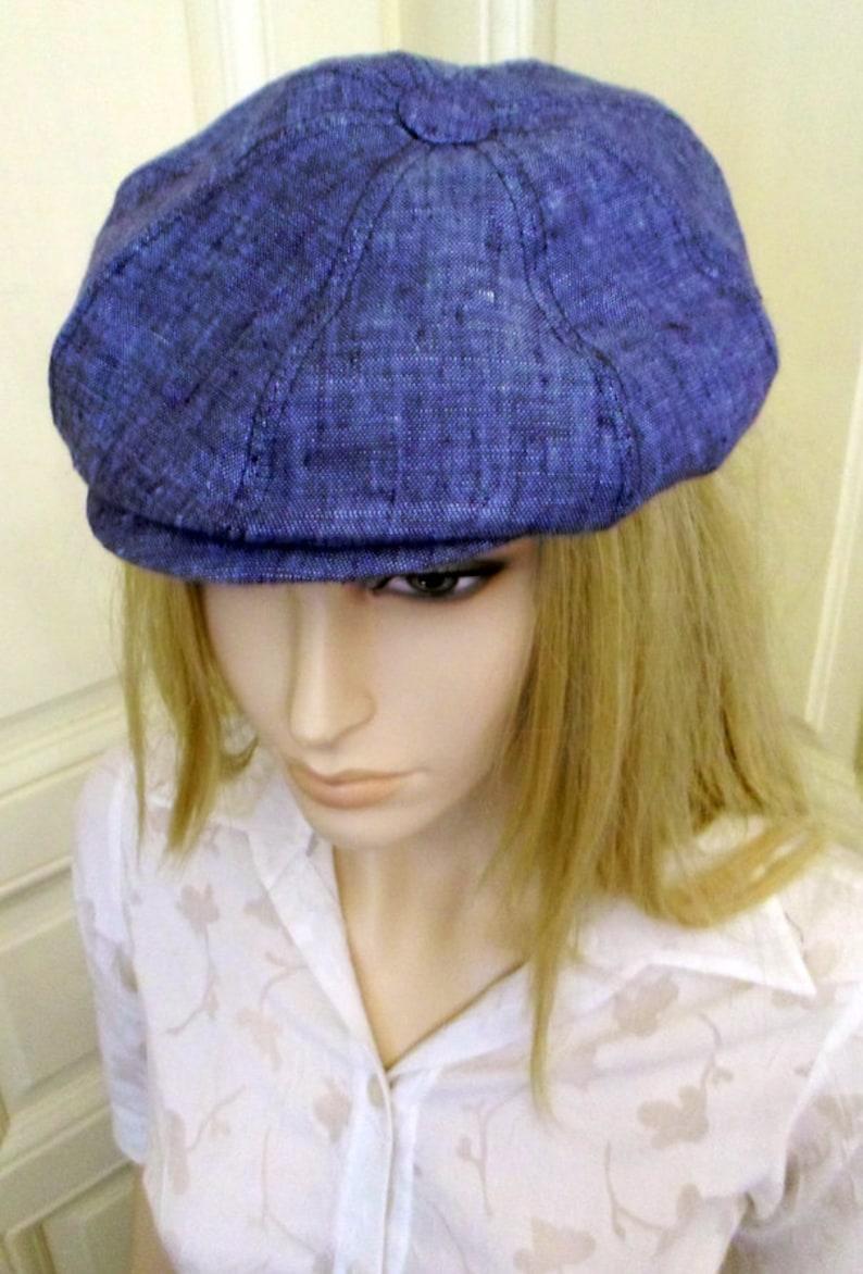 Linen newsboy cap Mens newsboy cap Linen cap Womens newsboy  c6a398a8c7b8