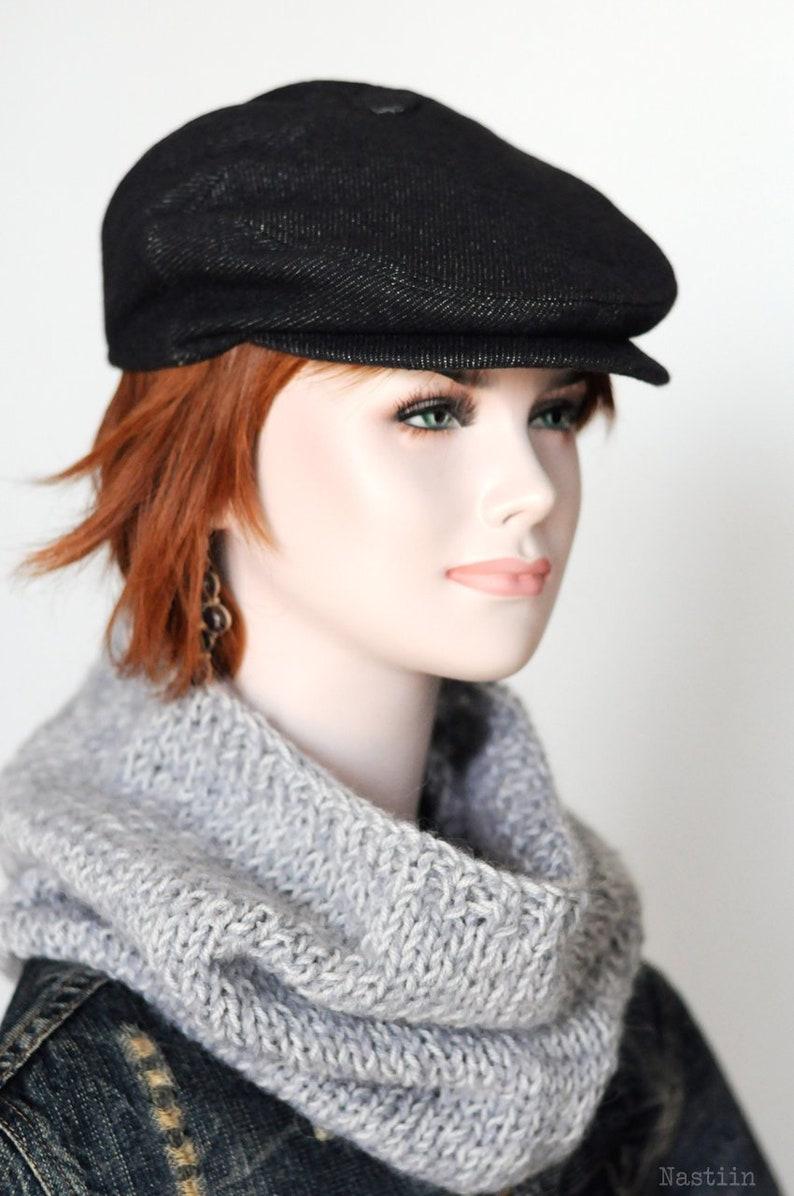 107042604a4 Charcoal newsboy cap Womens newsboy cap Mens newsboy hat Flat
