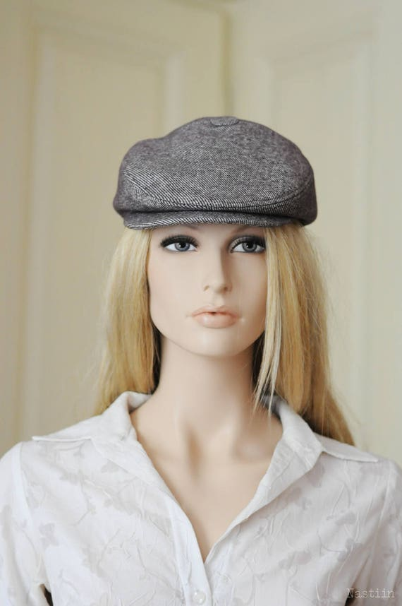 Mocha newsboy hat Womens newsboy cap Mens newsboy hat Wool hat  46dd23881fd