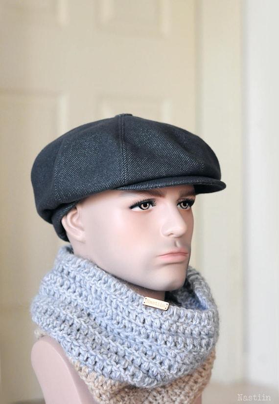 66b6cdc081d Blueish grey newsboy hat Mens newsboy cap Women newsboy hat