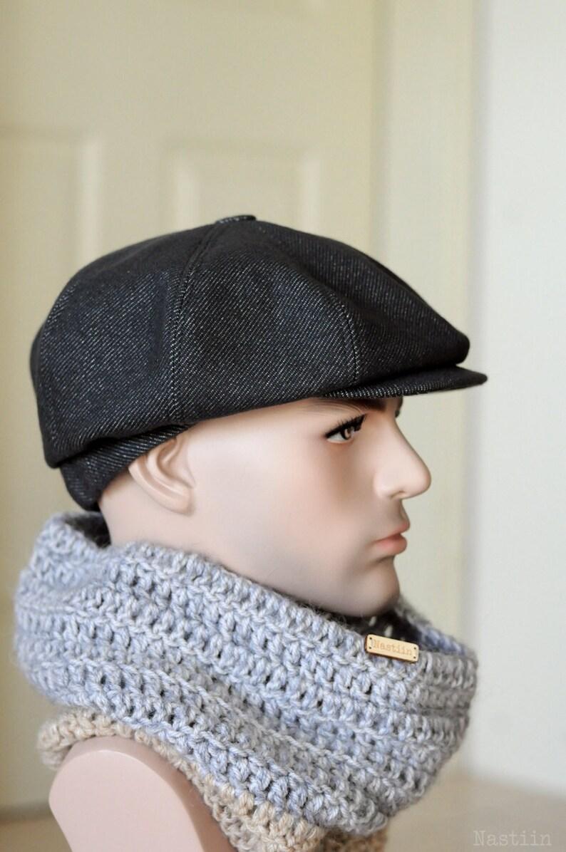 48d46c58580 Charcoal newsboy hat Dark gray wool hat Mens newsboy cap Women