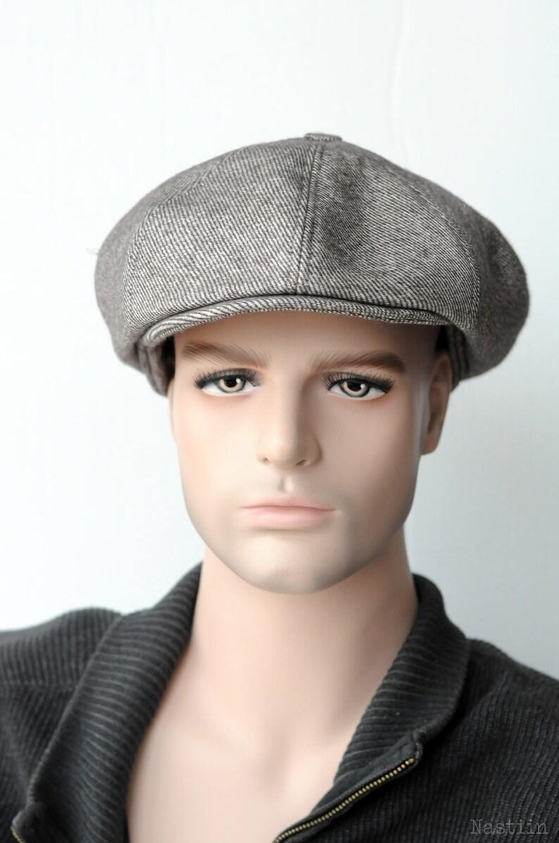 Mens newsboy hat Beige wool hat Peaky Blinders hat Newspaper  6ab98d08b62