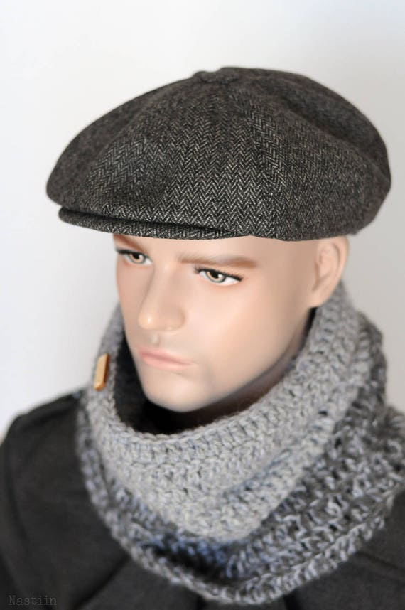 Tommy Shelby hat Peaky Blinders hat Grey newsboy cap Mens  5b5f2d1a582