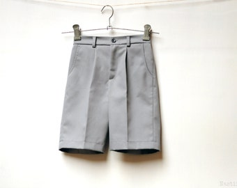 Boys grey shorts Infant shorts Baby grey shorts Toddler boy shorts with pockets Ring bearer suit Boys 1st birthday outfit baby boy shorts