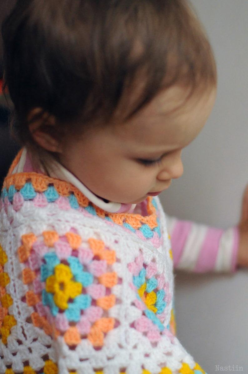 1e54da81f313 Baby crochet poncho Newborn poncho white Crochet cape toddler