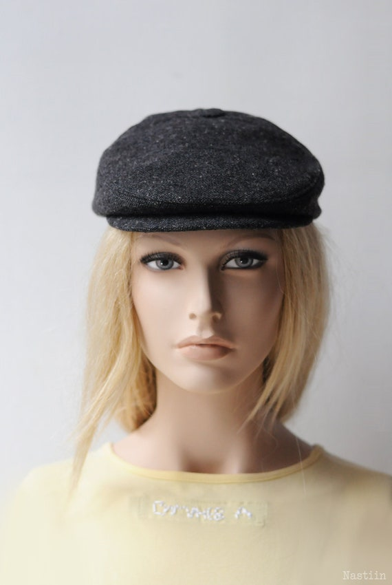 aad2e5960e4 Womens ivy cap charcoal Womens newsboy hat Mens newsboy cap