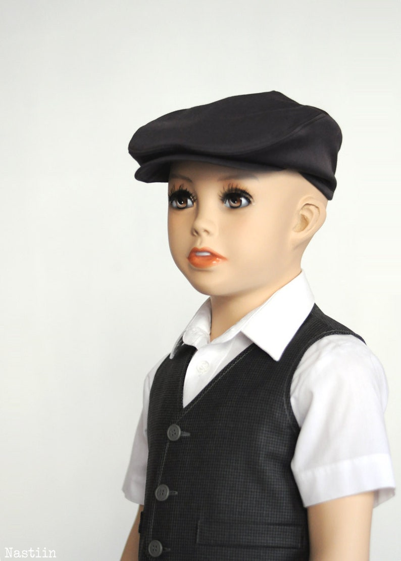 9cfb7c501e7 Boys newsboy hat black hat 1st birthday boy Wedding outfit boy