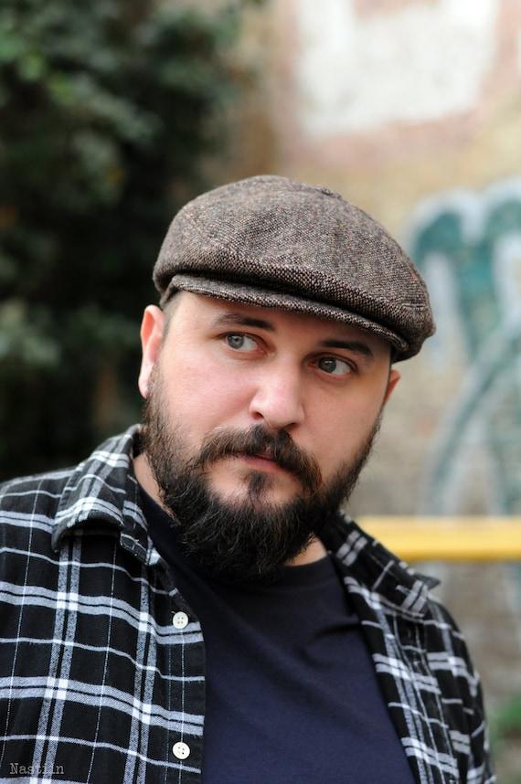 Brown newsboy cap Womens newsboy hat Wool newsboy hat Mens  160f80d945a
