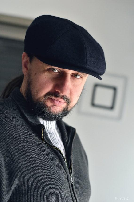 Navy newsboy hat Navy blue cap Womens newsboy cap Mens newsboy | Etsy